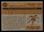 1960 Topps #179  Rip Coleman  Back Thumbnail
