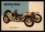 1954 Topps World on Wheels #5   Mercer Raceabout 1911 Front Thumbnail