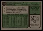 1974 Topps #660  Larry Dierker  Back Thumbnail