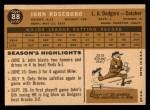1960 Topps #88  John Roseboro  Back Thumbnail