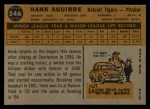 1960 Topps #546  Hank Aguirre  Back Thumbnail