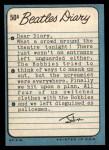 1964 Topps Beatles Diary #50 A John Lennon  Back Thumbnail