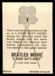 1964 Topps Beatles Movie #1   Spectators On Set Back Thumbnail