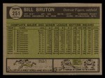1961 Topps #251  Bill Bruton  Back Thumbnail