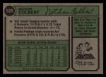 1974 Topps #125 WAS Nate Colbert  Back Thumbnail