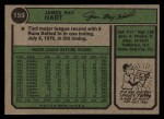 1974 Topps #159  Jim Ray Hart  Back Thumbnail