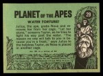 1969 Topps Planet of the Apes #29   Water Torture Back Thumbnail