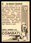 1964 Donruss Combat #35   An Anxious Prisoner! Back Thumbnail