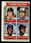 1974 Topps #600   -  Bill Madlock / Ron Cash / Jim Cox / Reggie Sanders Rookie Infielders   Front Thumbnail