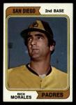 1974 Topps #387 SD Rich Morales  Front Thumbnail