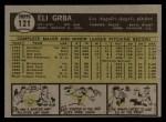 1961 Topps #121  Eli Grba  Back Thumbnail