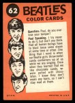 1964 Topps Beatles Color #62   The Beatle arrive Back Thumbnail