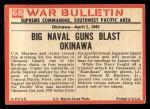 1965 Philadelphia War Bulletin #68   Broadside Back Thumbnail