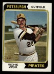 1974 Topps #317  Richie Zisk  Front Thumbnail