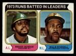 1974 Topps #203   -  Reggie Jackson / Willie Stargell RBI Leaders   Front Thumbnail