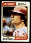 1974 Topps #394  Ken Henderson  Front Thumbnail