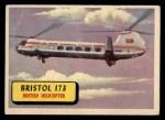 1957 Topps Planes #19 BLU  Bristol 173 Front Thumbnail