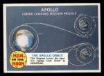 1969 Topps Man on the Moon #42 B  The Apollo Orbit Front Thumbnail