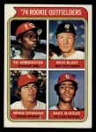 1974 Topps #601   -  Ed Armbrister / Rich Bladt / Brian Downing / Bake McBride Rookie Outfielders  Front Thumbnail