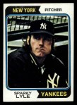 1974 Topps #66  Sparky Lyle  Front Thumbnail