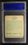1933 Goudey Sport Kings #10  Anton Lekang   Back Thumbnail