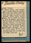 1964 Topps Beatles Diary #6 A Paul McCartney  Back Thumbnail