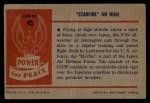 1954 Bowman Power for Peace #45   Starfire on High Back Thumbnail