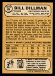 1968 Topps #466  Bill Dillman  Back Thumbnail