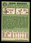 1967 Topps #268  Johnny Briggs  Back Thumbnail