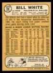 1968 Topps #190  Bill White  Back Thumbnail