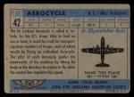 1957 Topps Planes #42 BLU  Aerocycle Back Thumbnail