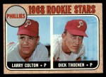 1968 Topps #348   -  Larry Colton / Dick Thoenen Phillies Rookies Front Thumbnail