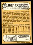 1968 Topps #492  Jeff Torborg  Back Thumbnail