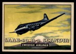 1952 Topps Wings #189   Saab-90 A-2 Scandia Front Thumbnail