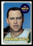 1969 Topps #235  Catfish Hunter  Front Thumbnail