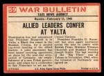 1965 Philadelphia War Bulletin #59   Big Three Back Thumbnail