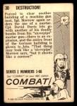 1964 Donruss Combat #30   Destruction Back Thumbnail