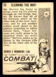 1964 Donruss Combat #25   Clearing the Way! Back Thumbnail