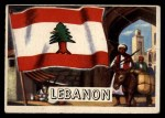 1956 Topps Flags of the World #33   Lebanon Front Thumbnail