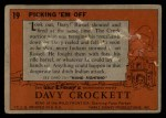 1956 Topps Davy Crockett #19 ORG  Picking 'Em Off  Back Thumbnail