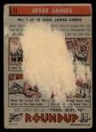 1956 Topps Round Up #51  Jesse James  Back Thumbnail