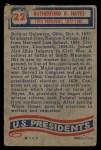 1956 Topps U.S. Presidents #22  Rutherford B. Hayes  Back Thumbnail