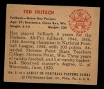1950 Bowman #11  Ted Fritsch  Back Thumbnail