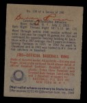 1949 Bowman #138  Warren Rosar  Back Thumbnail