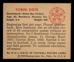 1950 Bowman #81  Tobin Rote  Back Thumbnail