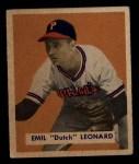 1949 Bowman #115  Dutch Leonard  Front Thumbnail