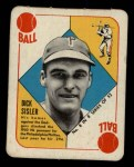 1951 Topps Blue Back #8  Dick Sisler  Front Thumbnail