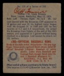 1949 Bowman #120  Cliff Fannin  Back Thumbnail