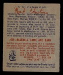 1949 Bowman #121  Mark Christman  Back Thumbnail