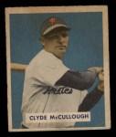 1949 Bowman #163  Clyde McCullough  Front Thumbnail